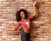 Beautiful Afro-American woman Stock Images