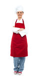 Beautiful aged female chef posing in uniform Royalty Free Stock Image