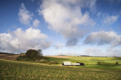 Beautiful agricultural English countryside landscape during earl Royalty Free Stock Photography