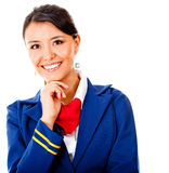 Beautiful air hostess Royalty Free Stock Image