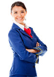Beautiful air hostess Stock Image