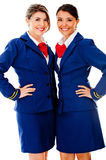 Beautiful air hostesses Royalty Free Stock Photos