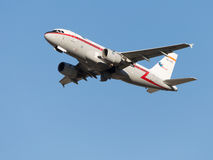 Beautiful Airbus-A319, Iberia Airlines takes off Stock Photos