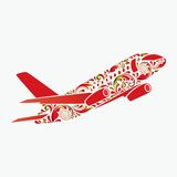 Beautiful airplane. Royalty Free Stock Image