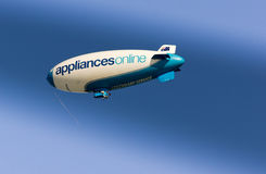 Beautiful airship over adelaide Stock Images