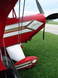 Beautiful airshow Pitts S-2 experimental biplane. Stock Photos