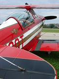 Beautiful airshow Pitts S-2 experimental biplane. Royalty Free Stock Photo