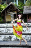 Beautiful aisa dancing girl Royalty Free Stock Images