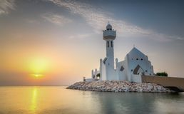 Free Beautiful Al Khobar Corniche Mosque Sunrise -Saudi Arabia Royalty Free Stock Photography - 153205017
