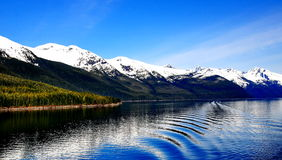 Beautiful Alaska. Beautiful View of Scenic Cruising to Endicott Arm in Alaska royalty free stock photo