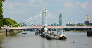 Beautiful Albert Bridge, London UK Royalty Free Stock Photo