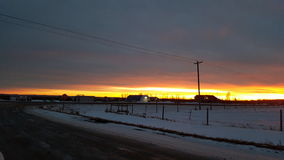 Beautiful Alberta Sunset Stock Images