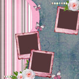 Beautiful album page in scrapbook style Stock Images