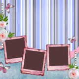 Beautiful album page in scrapbook style Royalty Free Stock Images
