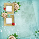 Beautiful album page in scrapbook style Stock Image