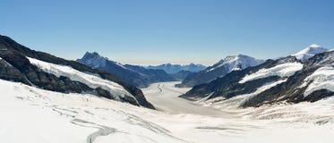 Beautiful Aletsch glacier in Switzerland royalty free stock photo