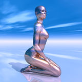 Beautiful Alien. Computer generated 3D illustration with perfect beauty Royalty Free Stock Photography