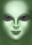 Beautiful alien woman face close up Royalty Free Stock Image