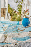 Beautiful alley in Kastro, Milos island, Cyclades, Greece Royalty Free Stock Photography