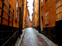 Beautiful alley in Stockholm Stock Photo