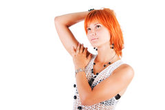 Beautiful alluring young girl in tunic Stock Photography