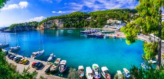 Beautiful Alonissos island relaxing tranquil hollidays in Greece stock images