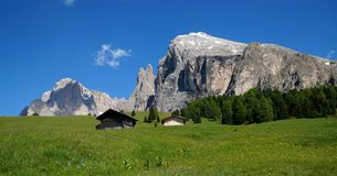 Beautiful alp and distinctive dolomite mountains Stock Photo