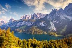 Beautiful alpine lake Stock Image