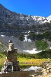 Igloolik by Rawson Lake snowshoe near Canmore, Alberta, Canada royalty free stock image