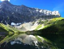 Scenic Rawson Lake snowshoe near Canmore, Alberta, Canada royalty free stock image