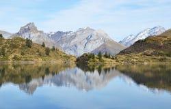 Beautiful Alpine lake. Switzerland Stock Photo