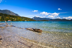 Beautiful alpine lake Walchensee Royalty Free Stock Photos