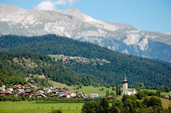 Beautiful alpine mountain ranges, central Europe Royalty Free Stock Images