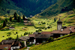 Beautiful alpine mountain ranges, central Europe Stock Image