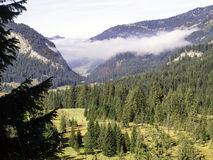 Beautiful Alpine panorama Royalty Free Stock Images