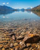 Beautiful alpine view from the shore of Lake Wakatipu , New Zeal Royalty Free Stock Photos