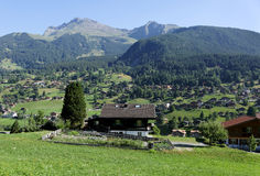 Beautiful Alpine village near Grindelwal Royalty Free Stock Images