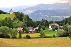 Beautiful alpline village in Trentino Alto. Italy stock images