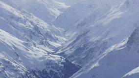 Beautiful Alps in Europe and winter and valley Stock Image