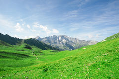 Beautiful alps landscape on cloudy day. Royalty Free Stock Photo