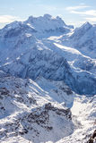 Beautiful Alps mountain winter landscape Royalty Free Stock Images