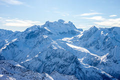 Beautiful Alps mountain winter landscape Stock Images