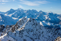 Beautiful Alps mountain winter landscape Royalty Free Stock Image