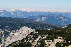 Beautiful Alps view from Dachstein Mountain, 5 Fingers viewing Platform, Austria Royalty Free Stock Images