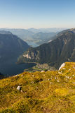 Beautiful Alps view from Dachstein Mountain, 5 Fingers viewing Platform, Austria Royalty Free Stock Photo