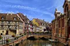 Beautiful Alsace, France. The colourful buildings in Colmar, Alsace, France. Summer time stock photography