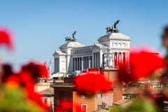 Beautiful Altar Of The Fatherland Altare della Patria, known as royalty free stock photo