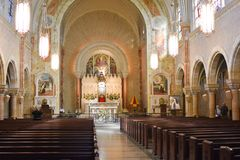 Altar Holy Hill, Hubertus, Wisconsin royalty free stock images