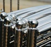 Stylish aluminium made round balls object photograph. The beautiful aluminium made stylish balls shape objects unique background photograph royalty free stock images