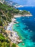 Beautiful Amalfi coast. Italy Royalty Free Stock Photography